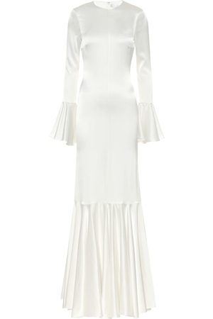 Caroline Constas Exclusive to Mytheresa – Allonia stretch-silk satin gown