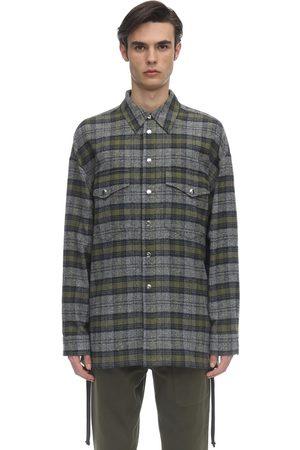 FAITH CONNEXION Over Mix Cotton Tweed Shirt Jacket
