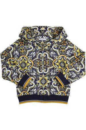 DOLCE & GABBANA Maiolica Print Cotton Sweatshirt