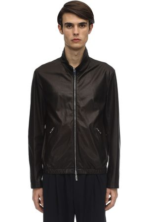 GIORGIO ARMANI Reversible Leather & Nylon Jacket