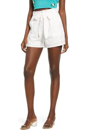 4SI3NNA Women's Blaire Cotton Eyelet Tie Waist Shorts