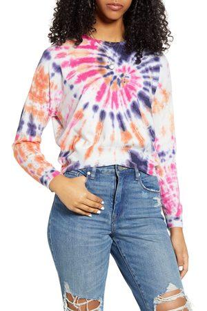 BLANK NYC Women's Rainbow Tie Dye Crop Sweater