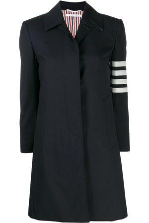 Thom Browne 4-Bar plain weave suiting overcoat
