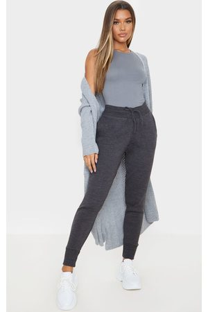 PRETTYLITTLETHING Charcoal Knitted Jogger