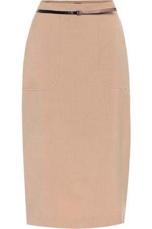 Altuzarra Casey stretch-wool high-rise skirt