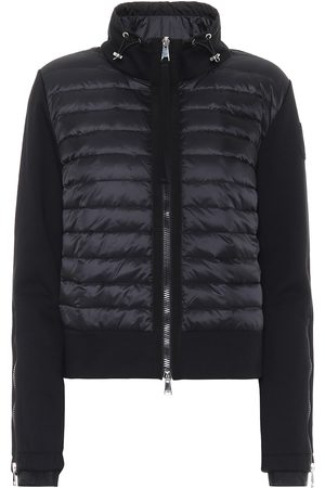 Moncler Cotton-jersey down cardigan