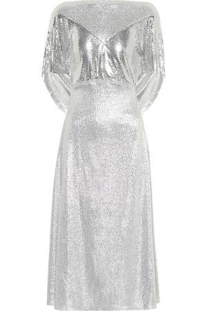 Paco rabanne Metallic midi dress