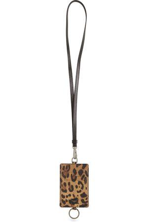 Dolce & Gabbana Dauphine Leopard Print Card Holder