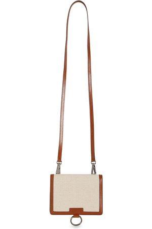 Dolce & Gabbana Canvas & Leather Wallet W/ Strap