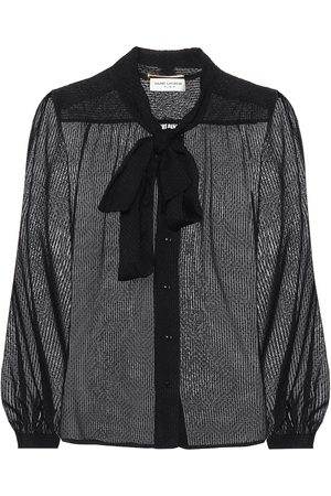 Saint Laurent Silk-blend blouse