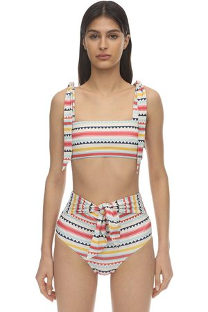 Carolina K Iris Sustainable Striped Bikini Top