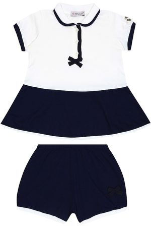 Moncler Baby cotton dress and bloomers set