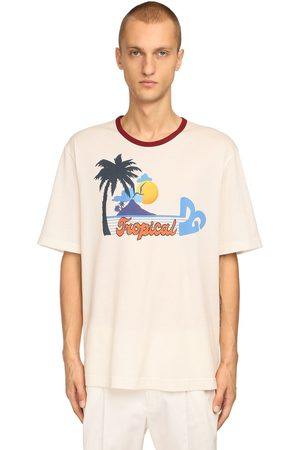 Dolce & Gabbana Dg Tropical Print Cotton Jersey T-shirt