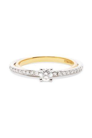 Charlotte Chesnais Fine Jewellery Women Rings - Elipse Solitaire Diamond & 18kt Ring - Womens