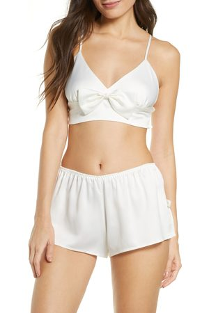 Rya Collection Women's Shimmer Bralette & Shorts Set