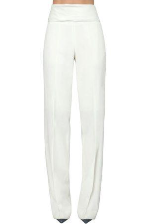 Victoria Beckham High Waist Wool Pants W/ Cummerbund