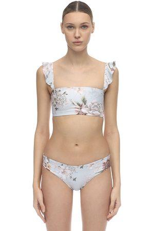 Agua Bendita Susan Printed Bikini Top