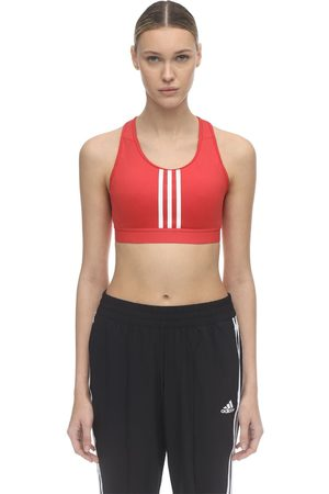 adidas Stretch Nylon 3 Stripe Bra Top
