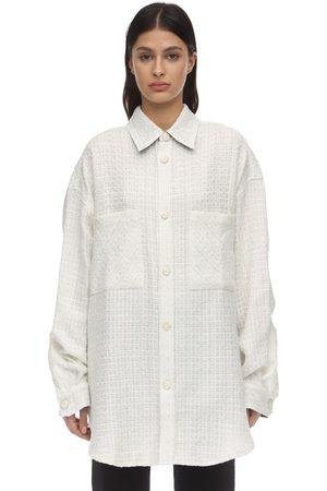 FAITH CONNEXION Oversize Embellished Tweed Jacket