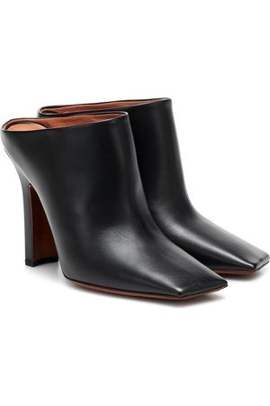 Vetements Boomerang leather mules