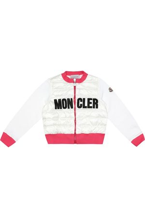 Moncler Logo down and cotton cardigan