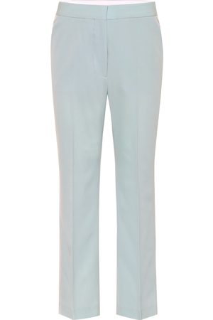 Stella McCartney Mid-rise straight cotton pants
