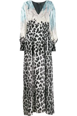 Roberto Cavalli Women Printed Dresses - Feather print dress