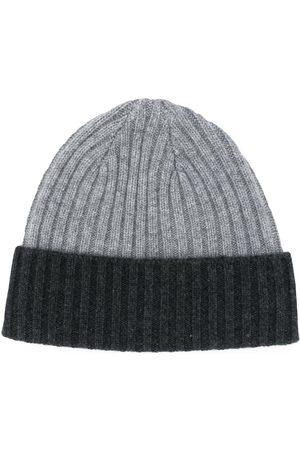 N.PEAL Ribbed knit beanie - Grey