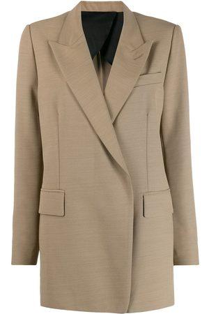 Ami Long single-breasted blazer - Neutrals