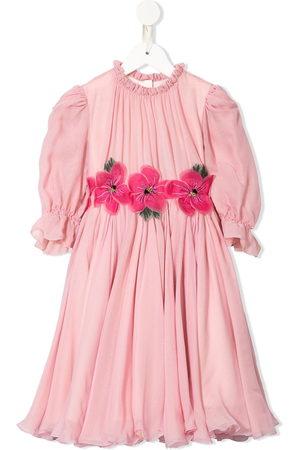 Dolce & Gabbana Girls Printed Dresses - Floral detail printed dress