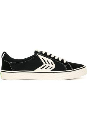 CARIUMA CATIBA low stripe suede and canvas contrast thread sneakers