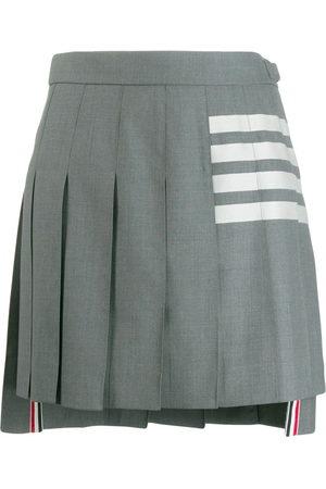 Thom Browne 4-Bar Stripe mini skirt - Grey