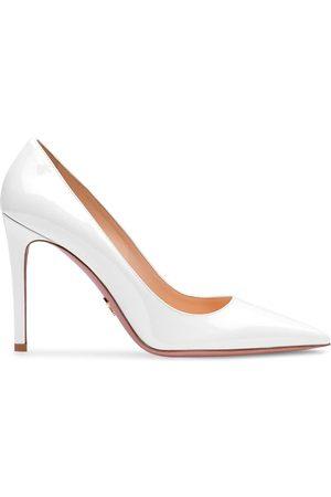 Prada Women Heels - Iridescent pointed-toe pumps