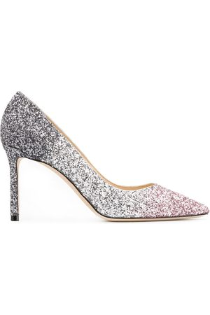 Jimmy Choo Women Heels - Romy 85mm glitter-embellished pumps