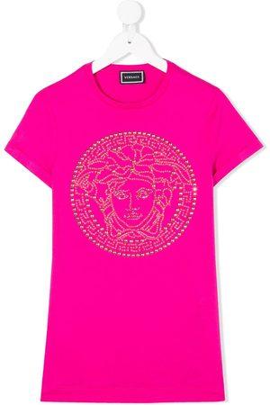 VERSACE Studded medusa T-shirt dress