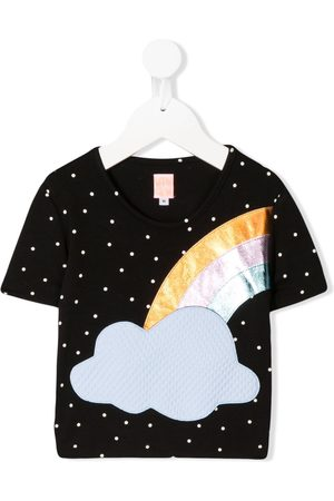 WAUW CAPOW by BANGBANG Short Sleeve - Short sleeve dotted rainbow T-shirt