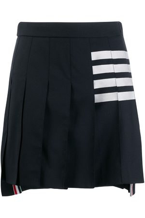 Thom Browne Women Mini Skirts - 4-Bar pleated miniskirt