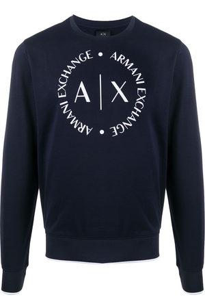 Armani Printed logo crest sweatshirt