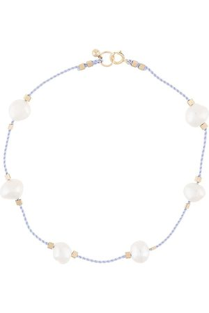 Petite Grand Women Body Jewelry - Pearl embellished cord anklet