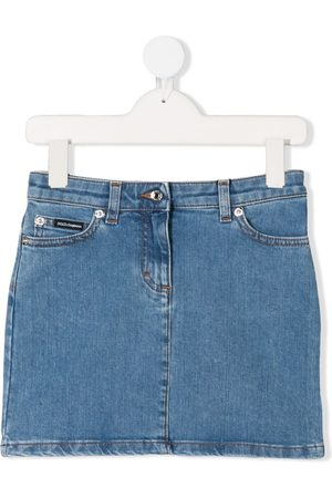 Dolce & Gabbana Celeste denim mini skirt