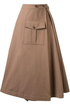 GOEN.J Asymmetric flared midi skirt