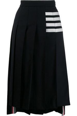 Thom Browne Women Midi Skirts - 4-Bar stripe pleated midi skirt