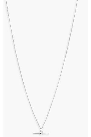 Boohoo Womens T-Bar Detail Necklace - - One Size