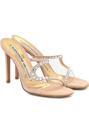 ALEXANDRE VAUTHIER Ava Ghost PVC and suede sandals