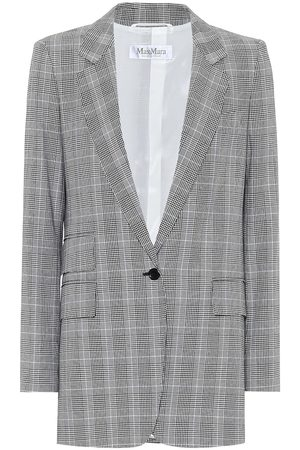 Max Mara Piuma checked cotton blazer