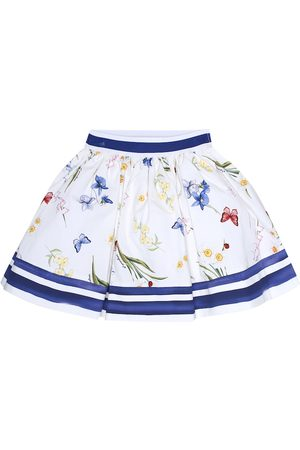 MONNALISA Floral cotton skirt