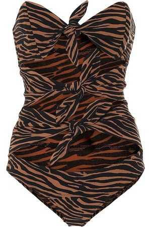 Lisa Marie Fernandez Triple Poppy printed swimsuit