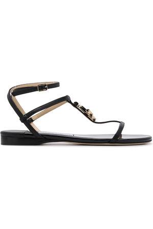 Jimmy Choo Alodie logo flat sandals