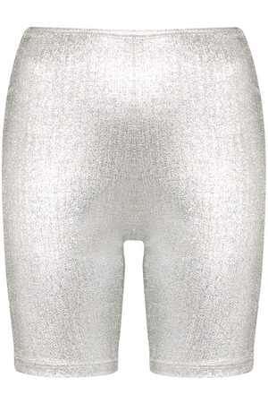 Paco rabanne Logo band cycling shorts - Grey
