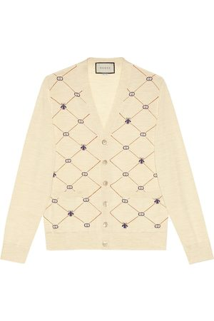 Gucci Monogram pattern cardigan - Neutrals